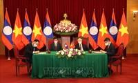 Vietnam y Laos firman importantes acuerdos de cooperación