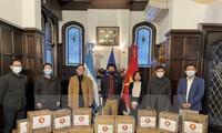 Lucha contra el covid-19: La Asean entrega donaciones a Argentina