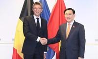 Principales actividades del líder del Legislativo vietnamita en Bélgica