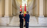 Canciller vietnamita se reúne con su par cubano