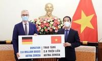 Vietnam recibe 2,6 millones de dosis de vacuna contra covid-19 donadas por Alemania
