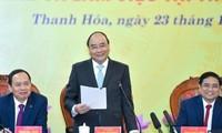 阮春福与清化省主要领导人座谈
