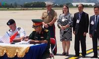 美军失踪人员遗骸归国仪式