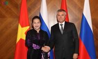 俄罗斯舆论高度评价越南国会主席阮氏金银的访问