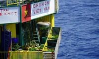 在DK 1海上高脚屋种菜