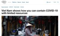世界经济论坛官网:越南成为应对肺炎疫情的灯塔