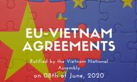国际媒体高度评价越南国会批准EVFTA