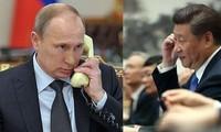 中俄领导人互相支持,反对外部干涉