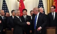 中美承诺继续落实中美第一阶段经贸协议
