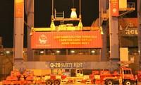 2021年春节西贡新港迎来新年的第一艘集装箱货船