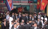 Le président Kim Jong-un est arrivé au Vietnam