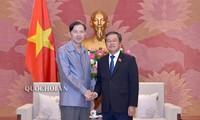 Une délégation de l'Institut d'études législatives du Laos reçue par Dô Ba Ty