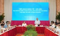 13e congrès du PCV: réunion de la sous-commission des affaires socio-économique