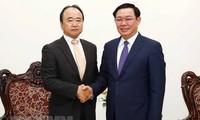 Le PDG du groupe japonais AEON reçu par Vuong Dinh Huê