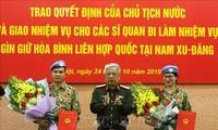 Deux Casques Bleus vietnamiens supplémentaires en partance pour le Soudan du Sud