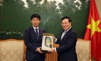 Pham Bình Minh reçoit le gouverneur de la préfecture de Gunma (Japon)