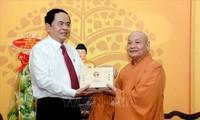 Nouvel An: vœux du président du FPV au président de l'Église bouddhique du Vietnam