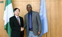Rencontre entre Dang Dinh Quy et le président de l'Assemblée générale des Nations Unies