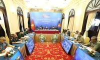 Ouverture de la visioconférence des hauts officiels de la Défense de l'ASEAN