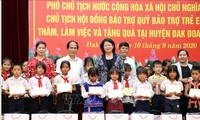 Dang Thi Ngoc Thinh en déplacement à Gia Lai