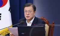 Le président sud-coréen appelle à des relations «orientées vers l'avenir» avec le Japon