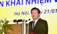 Trinh Dinh Dung à la conférence bilan du groupe du Charbon et des minerais du Vietnam