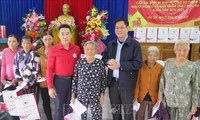 Têt : la Croix-Rouge du Vietnam offre des cadeaux aux sinistrés des catastrophes naturelles à Phu Yên