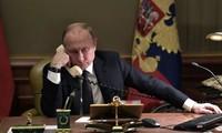 Entretien entre les dirigeants russe, allemand et français