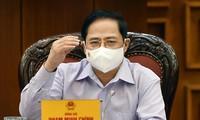Pham Minh Chinh préside la réunion gouvernementale sur l'organisation des législatives