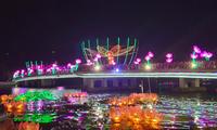 Lantern festival lightens Can Tho city