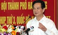Premierminister trifft Wähler in der Hafenstadt Haiphong