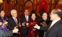 Treffen zum Neujahrsfest für hochrangige Politiker