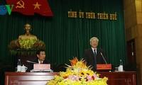 KPV-Generalsekretär Nguyen Phu Trong zu Gast in der Provinz Thua Thien Hue