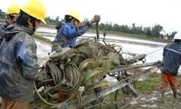 Beseitigung der Folgen des Taifuns Rammasun