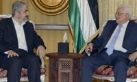 Der palästinensische Präsident und Hamas-Führer diskutieren über Waffenruhe mit Israel