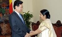 Die strategische Partnerschaft zu Indien in allen Bereichen verstärken