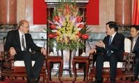 Staatspräsident Truong Tan Sang empfängt den Präsidenten des obersten ungarischen Gerichts