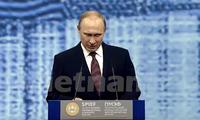 Der russische Präsident Putin bekräftigt die Beziehungen zur EU und den USA