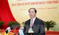 Staatspräsident Tran Dai Quang nimmt an der Konferenz über die Aufgaben des Gerichtswesens teil