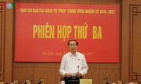 Staatspräsident Tran Dai Quang leitet Sitzung der Abteilung für Justizreform