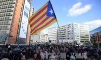 Katalanische Bürgermeister demonstrieren in Brüssel