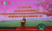 Der Plan zur Entwicklung des nationalen Tourismus-Gebiets Tan Trao in der Provinz Tuyen Quang