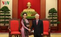 KPV-Generalsekretär Nguyen Phu Trong empfängt myanmarische Staatsberaterin