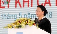 Die Parlamentspräsidentin nimmt an Einweihung des Betriebs zur Erdgasaufbereitung Ca Mau teil