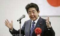 Der japanische Premierminister Shinzo Abe wird zum LDP-Vorsitzende wieder gewählt
