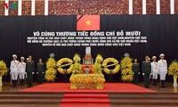 Veranstaltung der Trauerfeier für den ehemaligen KPV-Generalsekretär Do Muoi