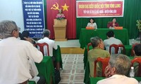 Vize-Staatspräsidentin Dang Thi Ngoc Thinh trifft Wähler in Vinh Long
