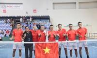 Die Tennisnationalmannschaft Vietnams gewinnt bei Davis Cup Gruppe III der Asien-Pazifik-Region