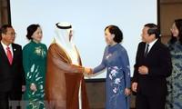 Die Leiterin der Zentralabteilung für Öffentlichkeitsarbeit Truong Thi Mai zu Gast in Katar