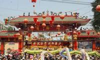 Vollmondfest im ersten Monat nach Mondkalender in Binh Duong
